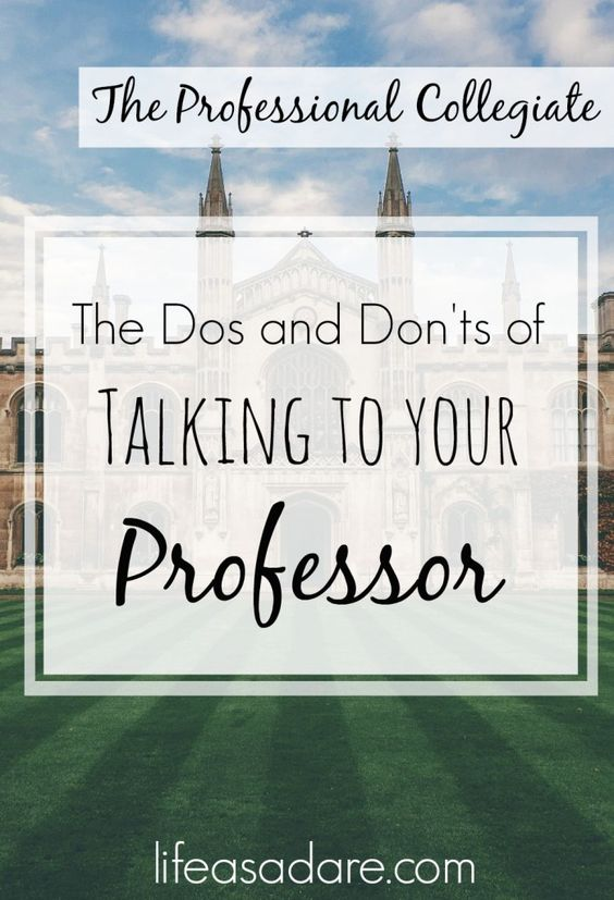 Who to talk to in college?