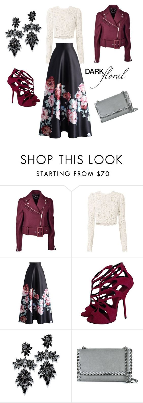 """""""Winter Floral"""" by kaitmagnuson ❤ liked on Polyvore featuring Givenchy, A.L.C., Chicwish, Giuseppe Zanotti, Fallon and STELLA McCARTNEY"""