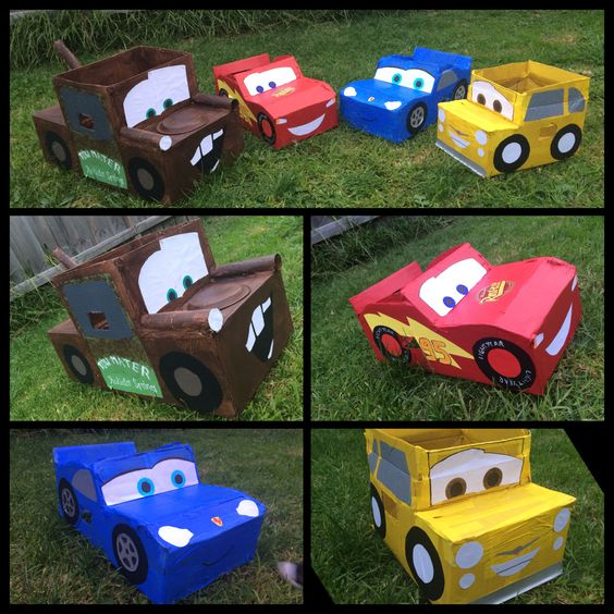 10 Ideas About Cardboard Box Cars On Pinterest: Disney Cars Cardboard Box Car. Made These For My Son