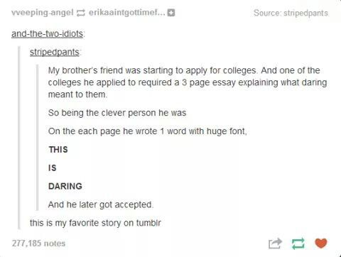 Is this good for a college essay?