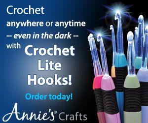 Glow in the dark crochet hooks!: Ideas, Debi Patterns, Crochet Hooks, Crochet Christmas Trees, Granny Squares, Hooks Annie S, Crochet Patterns, Crocheted Moccasin