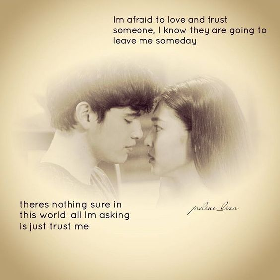"""""""Trust,given once.Broke it,you'll never put it back.Second chance,maybe.Third time,its pitty.  #OTWOLTrustme  #OntheWingsofLove  #jadine #week12 #episode60"""""""