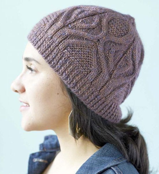 Free Knitting Pattern For Cabled Hat Knit Flat Or In The Round Knitted Hat Patterns Free Women Cabled Hat Pattern Knitting
