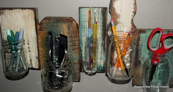 another way to use scrap wood and jars