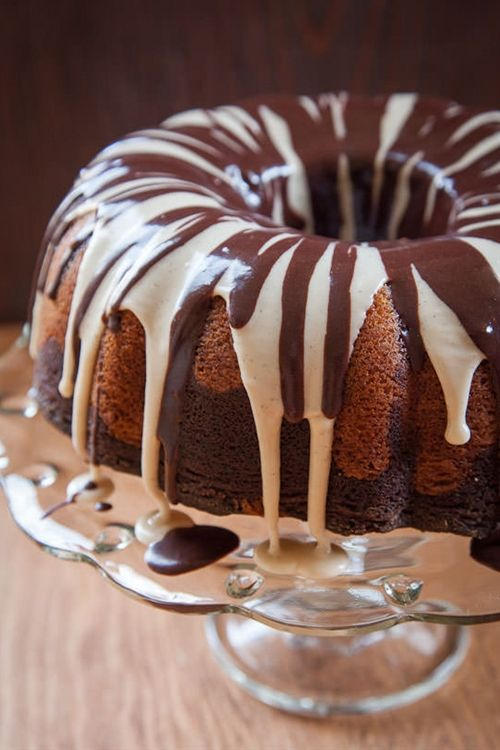 Marble Cake Recipe with Meyer Lemon and Chocolate