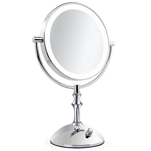 Lvyanmei 8 Inch Lighted Mirrors Illuminated Mirror Dimmable