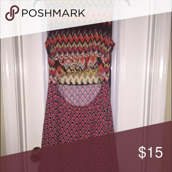 🔥open back multi print dress Gorgeous multi print dress with open back detail. Dresses Midi