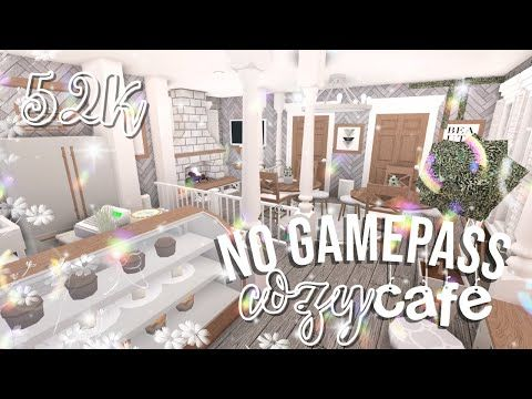Roblox Bloxburg No Gamepass Cafe Bakery Youtube Cafe House Modern Style House Plans Home Building Design