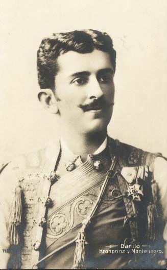 Kronprinz Danilo von Montenegro, um 1900