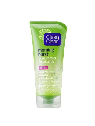 Clean & Clear Morning Burst Shine Control Facial Scrub, 5-Ounce Tubes (Pack of 3) by Clean & Clear. $7.99. From the invigorating Morning Burst collection comes Clean & Clear Morning Burst Shine Control Facial Scrub. It smoothes and exfoliates tired-looking skin for a healthy, radiant glow. The shine control formula, with lemongrass and fruit extracts, leaves your skin shine-free. BurstING Beads quickly burst with energy and vitamins, while an invigorating fragra...