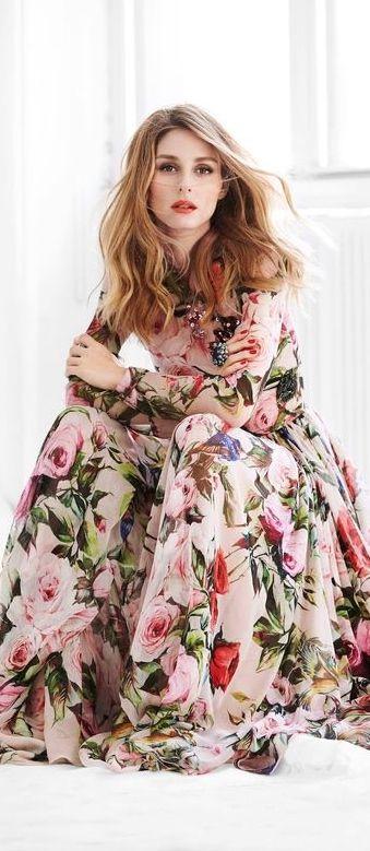 Floral maxi dress: