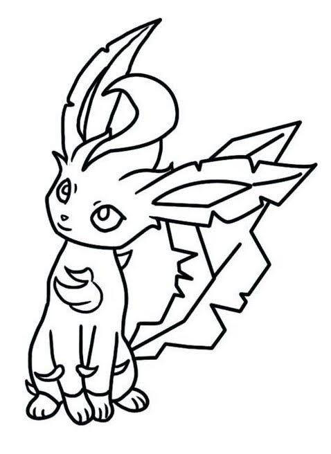 Leafeon Pokemon Eevee Evolutions To Color Pokemon Coloring Pages Bird Coloring Pages Pokemon Coloring
