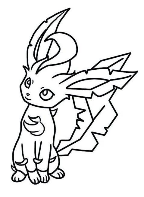 Pokemon Leafeon Coloring Pages Pokemon Coloring Pages