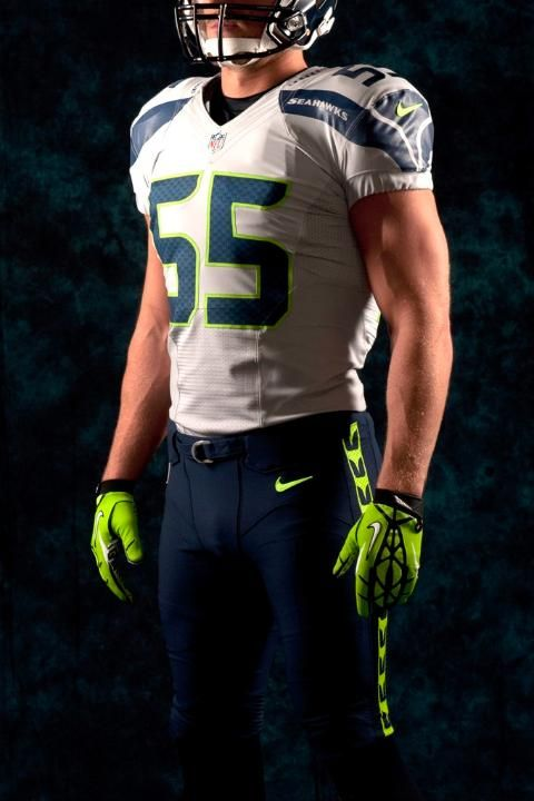 Wholesale NFL Nike Jerseys - Seahawks Wolf Grey with blue pants   The New Look Seahawks ...