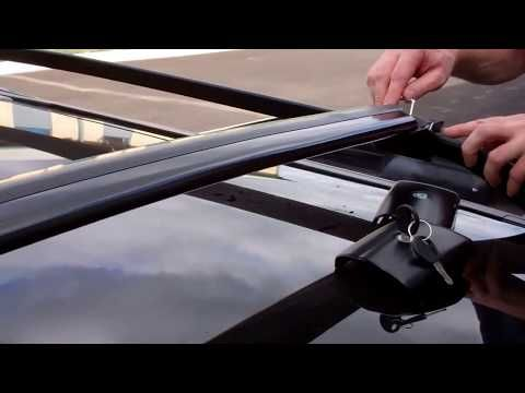 Only Fits Cars With Roof rails Landrover Freelander Locking Roof Bars