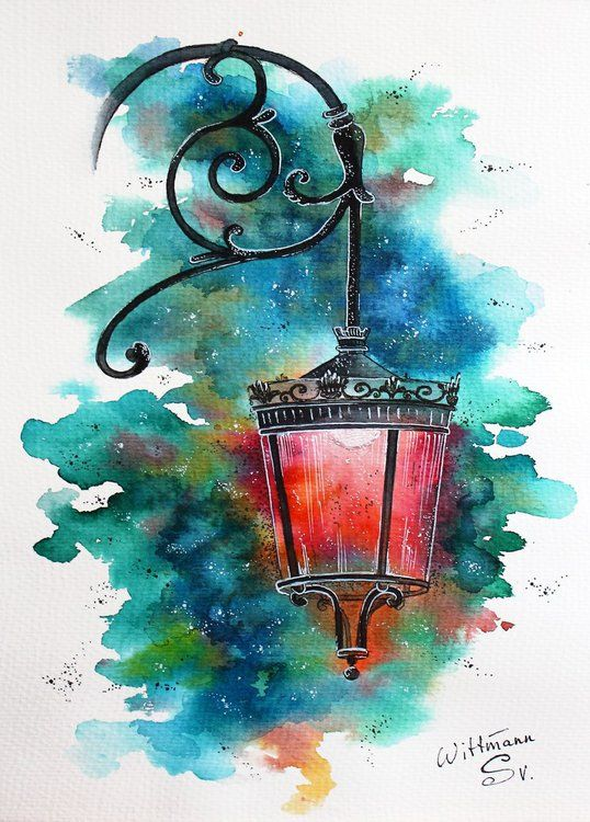 Beautiful Streetlight 2 Urban Architecture Sketch Lamp