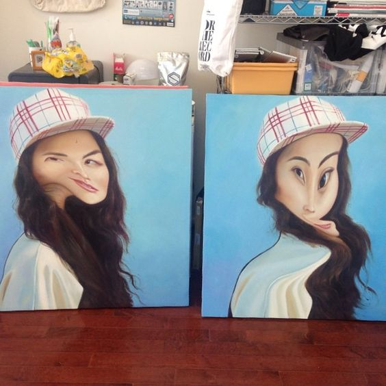 Ryder Ripps - Adrianne Ho Paintings - 2014