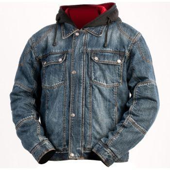 BILT IRON WORKERS - Steel Denim Motorcycle Jacket with Hoody ...