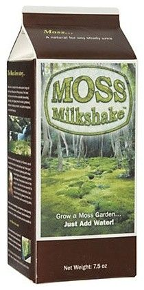 Almost nothing is more magical than moss, yet it's hard to transplant and expensive to buy. try this Moss Milkshake. Just add water to create a 10- to 20-foot carpet of green. $26                                                                                                                                                      More
