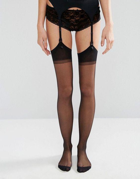 Jonathan Aston Seduction Set Stockings and Suspender - Black