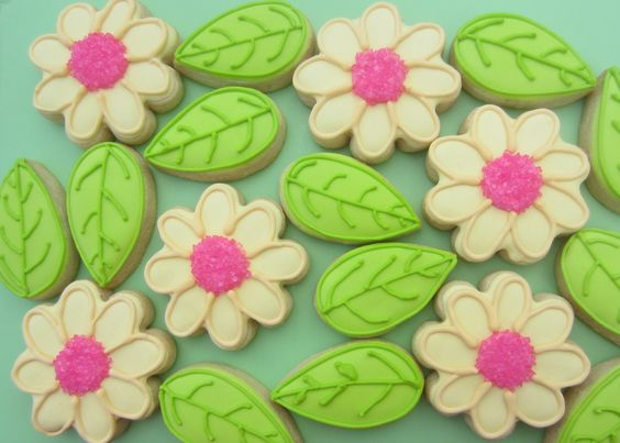 Flowers & leaves Cookie Capers