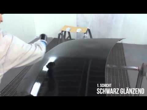 Sprühfolie Tuning Motorhaube beschichten mit mibenco Flüssiggummi - Steinschlagschutz / rockfall protection for your bonnet with mibenco liquid rubber