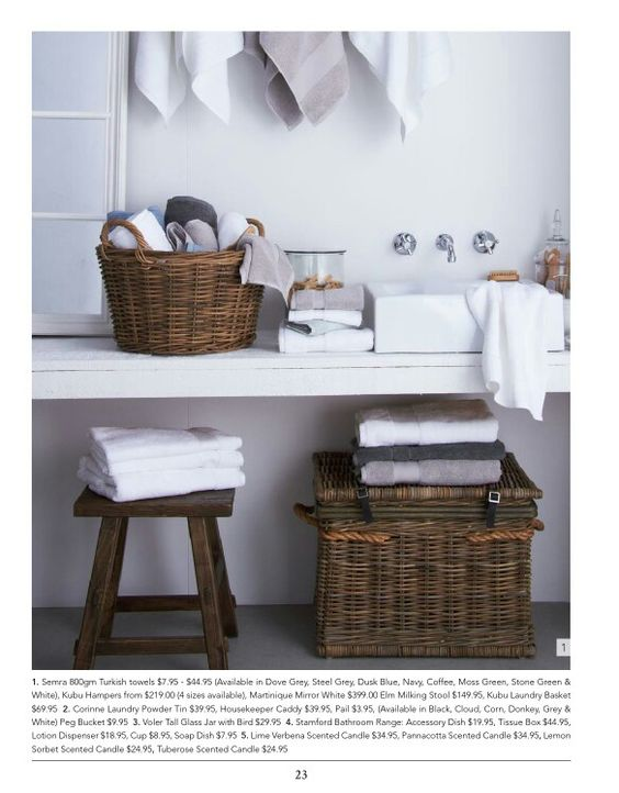 Laundry basket from provincial living
