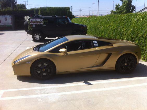 Matte Gold Lamborghini Gallardo Wrap