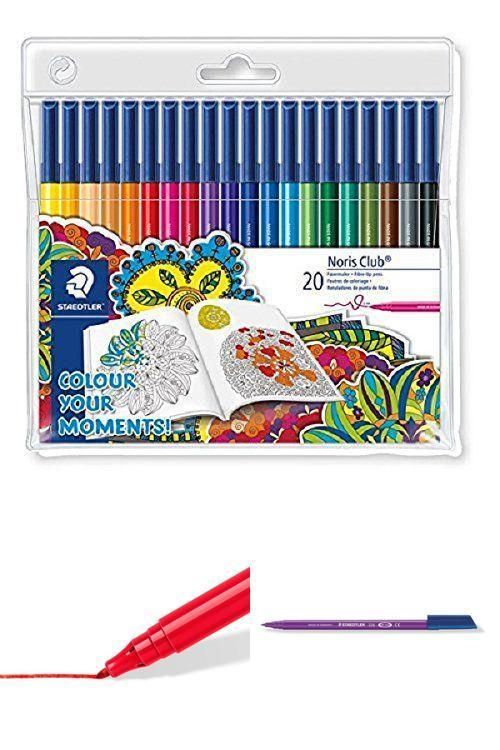 Multicolor Non Toxic Fibre Tip Pens Kids Colouring Drawing School Art Stationery