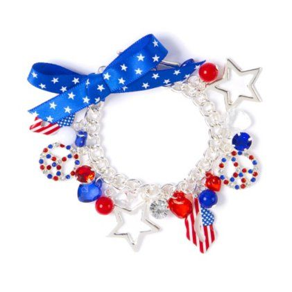 Stars and Stripes Charm Bracelet