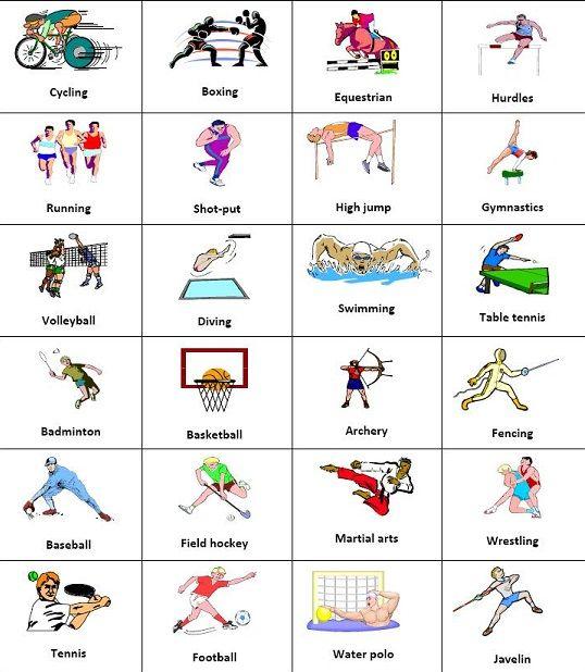 Disfrutando Y Aprendiendo Recorta Y Pega Los Deportes Realiza Oraciones Deportes En Ingles Vocabulario En Ingles Posturas De Yoga Para Ninos