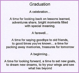 poems for graduating daughters | high school graduation ...