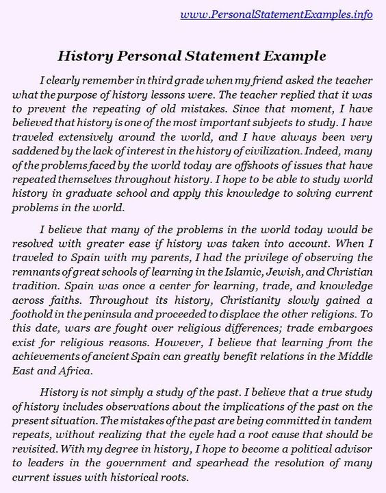 history grad school personal statements Second, i am fascinated by history, economics, and diplomacy i believe, through the study of international relations, i can effectively satisfy my curiosity in these fields sample of personal essay's for grad school application.