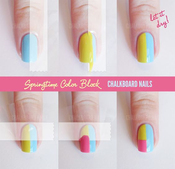 Chalkboard Nails: tutorial