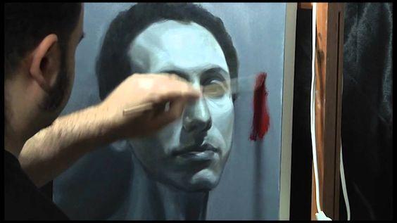 Demonstração do DVD Pintando Retrato em Camadas por Paulo Frade