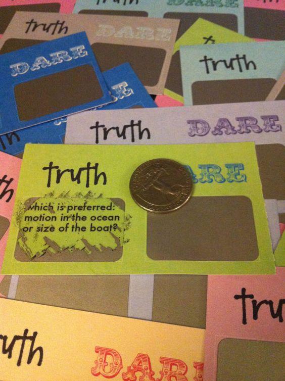 fun truth or dare bachelorette scratch off cards! So fun!
