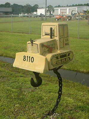 Bulldozer Mail Box