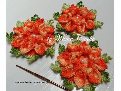 Wilma Crochê: Flor de Crochê em linha duna