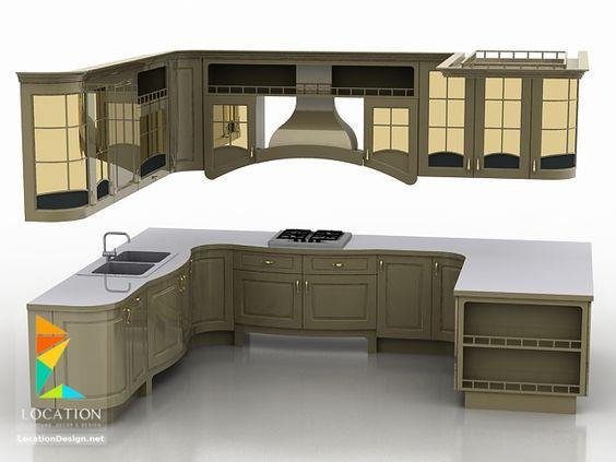 كتالوج صور مطابخ حديثة مطابخ مودرن مطابخ ريفية بسيطة لوكشين ديزين نت 3d Kitchen Design Model Kitchen Design Kitchen Design