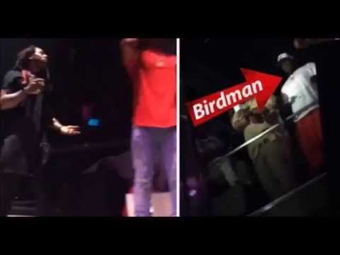 Birdman Throws vodka on Lil Wayne While He Performs - The Breakfast Club