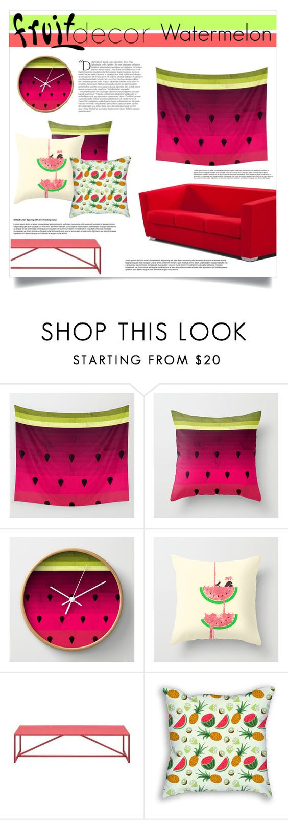"""""""Fruit Decor"""" by spellrox ❤ liked on Polyvore featuring interior, interiors, interior design, home, home decor, interior decorating, Balmain, Blu Dot and fruitdecor"""