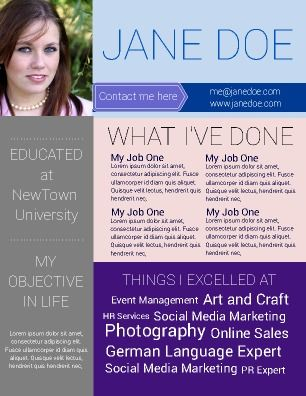 Creative Resume Allows you to distinguish yourself from the - job history resume