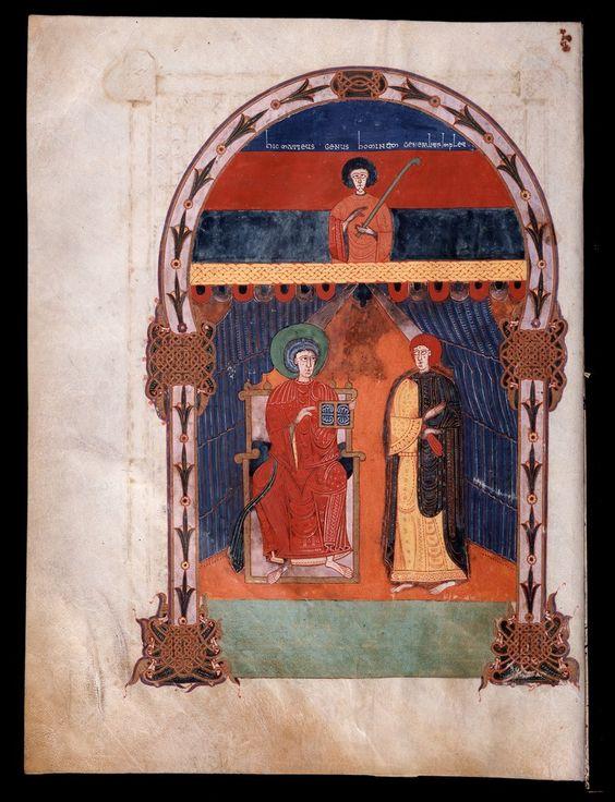 Beato de Liébana: códice de Fernando I y Dña. Sancha — (14) (Marcos Evangelista y el testigo?))