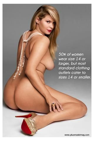 50% of women wear size 14 or larger, but most standard clothing outlets cater to sizes 14 or smaller.