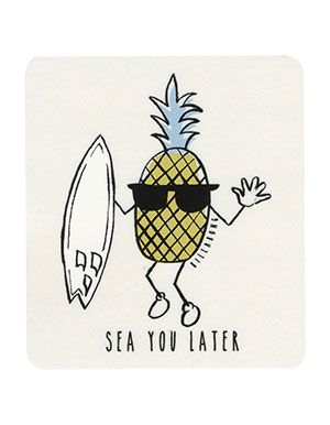 BILLABONG Sea You Later Sticker Yellow