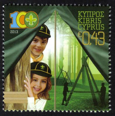 Cyprus Stamps SG 2013 (b) Cyprus Scouts Association Centenary - MINT