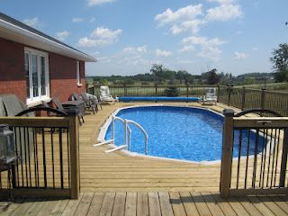 Above ground pool deck and hot tub ideas with tons of for Above ground pool decks with hot tub