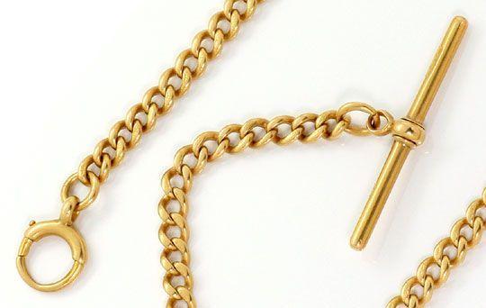Taschenuhr Kette Knebel Verschuss Antik Rotgold 18k 750 K2572