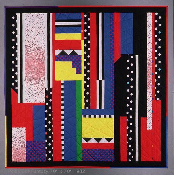 """Yvonne Porcella: Polka Dot Fantasy, 70x70"""" 1982"""