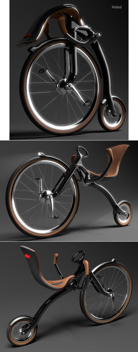 Oneybike, a folding recumbent bicycle designed by  Peter Varga